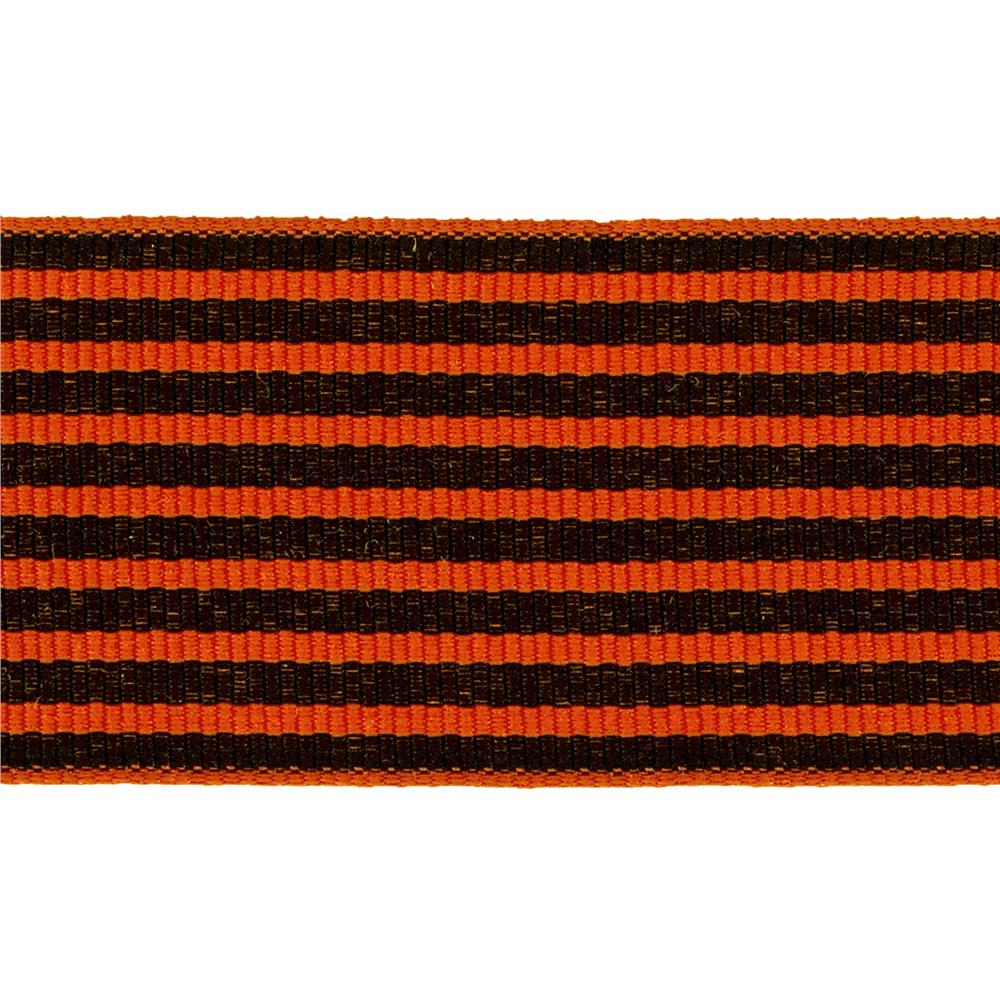 "1 1/2"" Grosgrain Stripes Orange/Black"