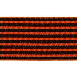 1 1/2'' Grosgrain Stripes Orange/Black
