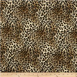 Techno Scuba Knit Leopard Black
