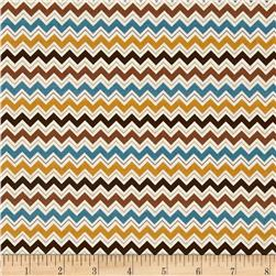 Riley Blake Hooty Hoot Returns Hoot Chevron Brown