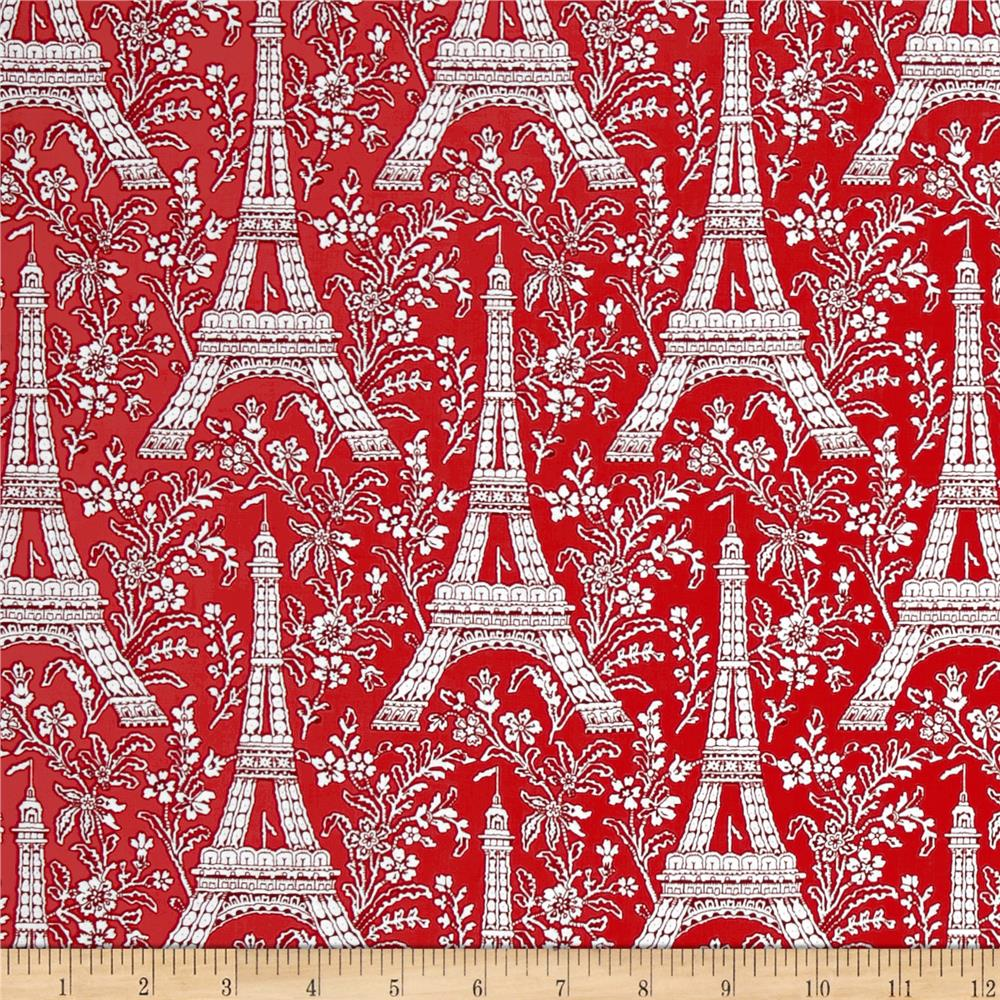Michael Miller Petite Paris Eiffel Tower Rouge
