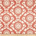 Swavelle/Mill Creek Chimbay Suzani Chenille Jacquard Lobster Bisque