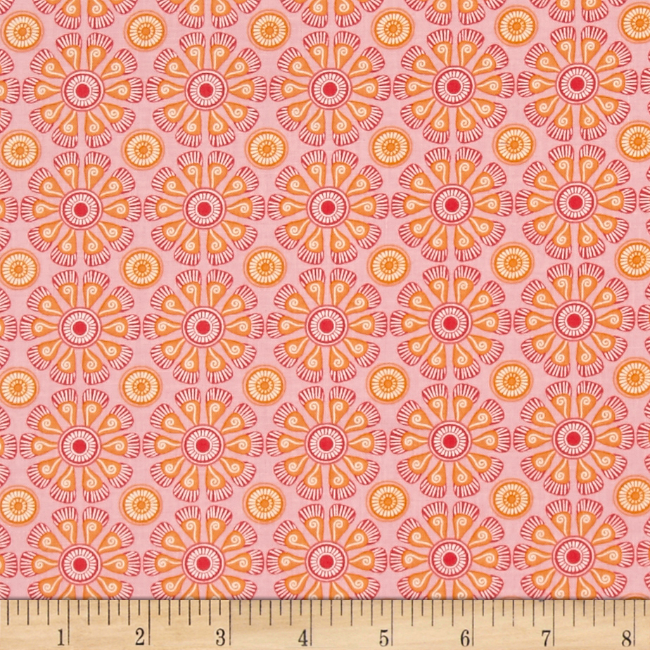 Image of Kitchen Love Daisy Love Light Pink Fabric