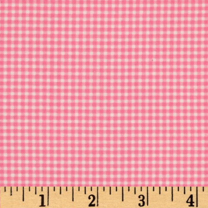 Michael Miller Flannel Tiny Gingham Pink