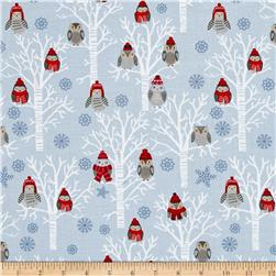 Natalie Alex Snow Delightful Winter Owls In Tress Gray