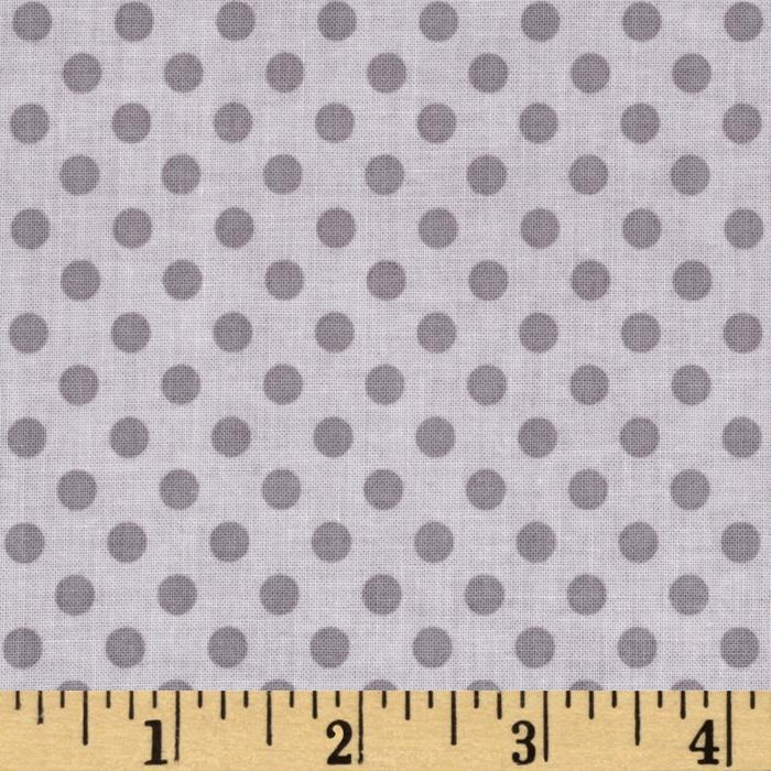 Riley Blake Small Dots Tone on Tone Gray