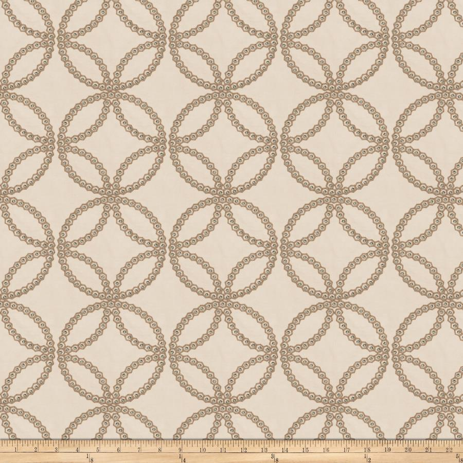 Fabricut Embroidered Twill Reconciliation Jade