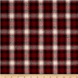 Yarn Dyed Plaid Flannel Burgundy/Cream