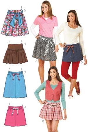 Kwik Sew Gathered Mini Skirts Pattern