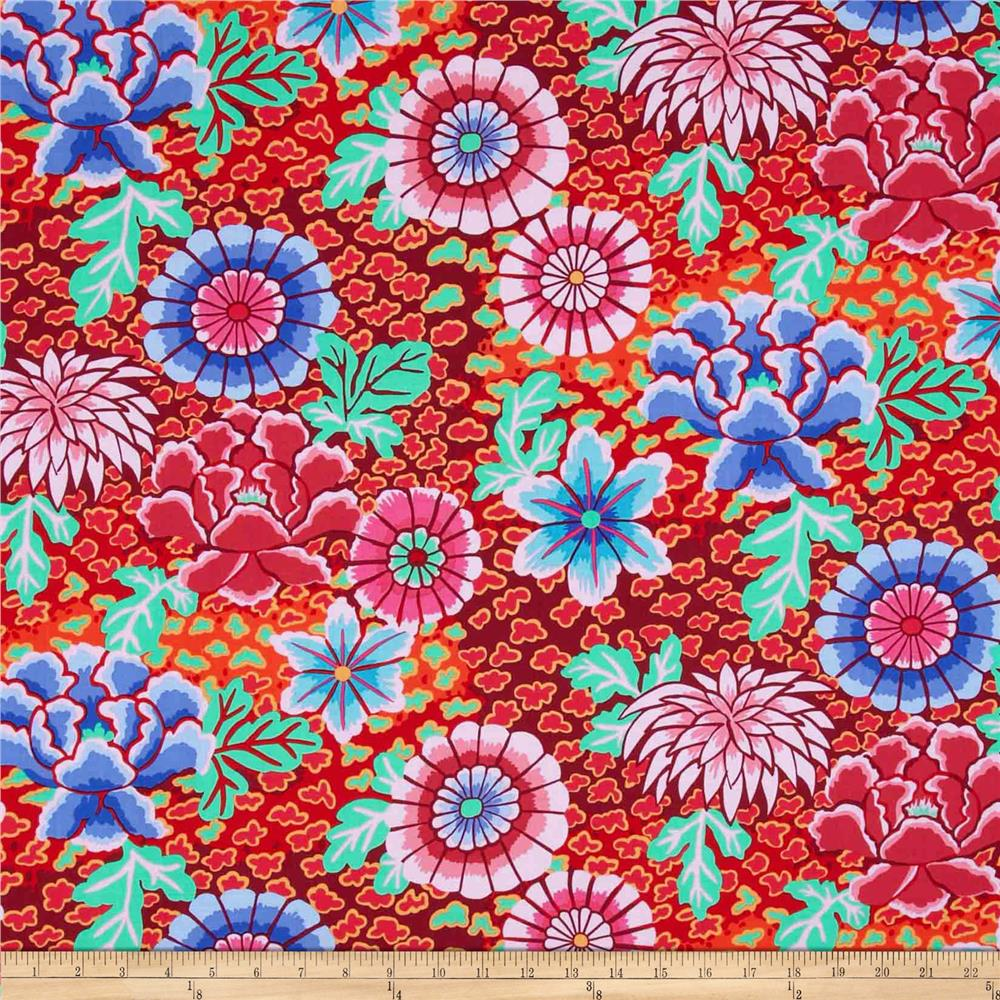 Kaffe Fassett Collective Dream Red - Discount Designer ...