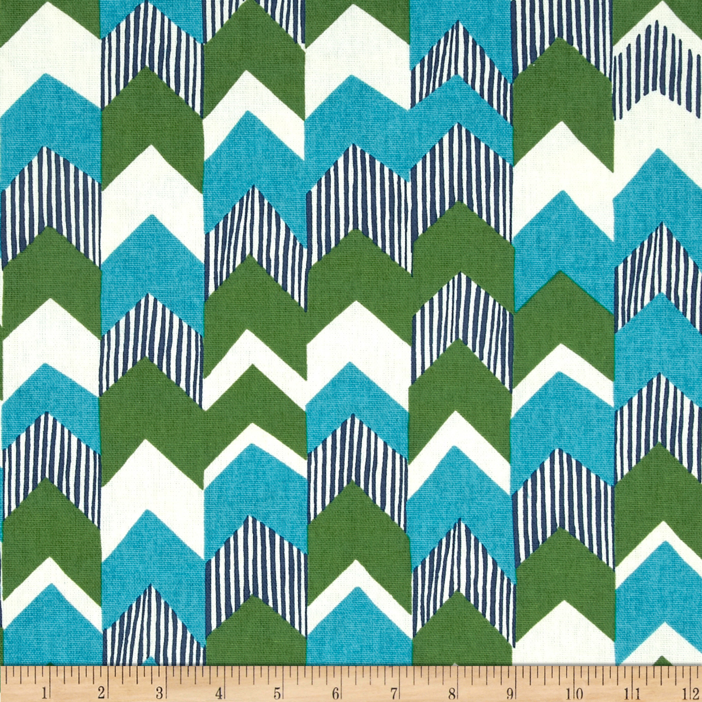 Richloom Nino Stripe Teal Home Decor Fabric