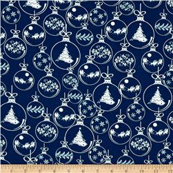 Christmas Novelties Ornaments Metallic Blue
