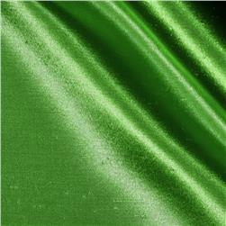 Shantung Sateen Apple Green Fabric