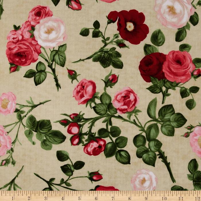 Bouquet Moderne Rose Floral Cream