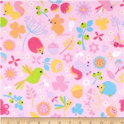 Riley Blake Wildflower Meadow Flannel Main Pink Fabric