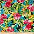 Splash of Color Bright Tropical Flowers Black