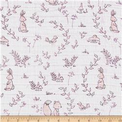 Shannon Sweet Melody Designs Embrace Double Gauze Small Wonders Pink.