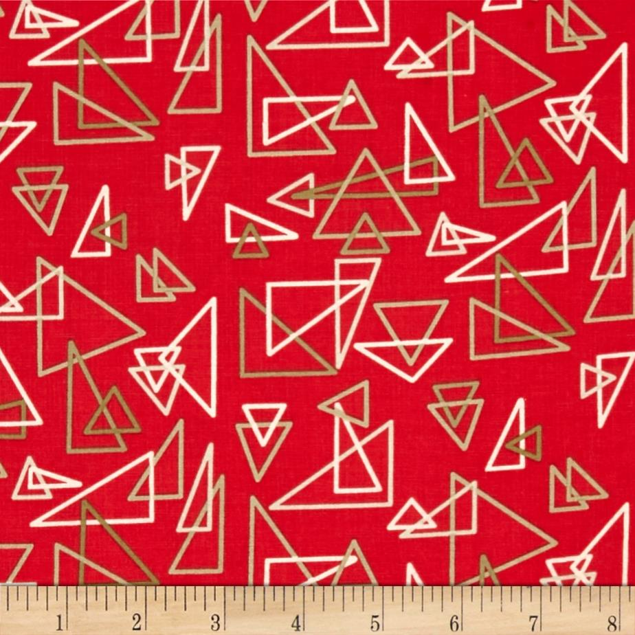 Modern Tyke Geometric Red
