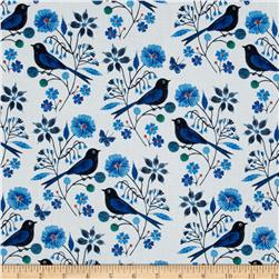 Cloud 9 Organic Moody Blues Perched Birds