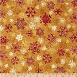Holiday Flourish 6 Snowflake Metallic Crimson