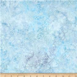 Batavian Batiks Crackle Pastel Blue