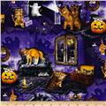 Timeless Treasures Halloween Cats House
