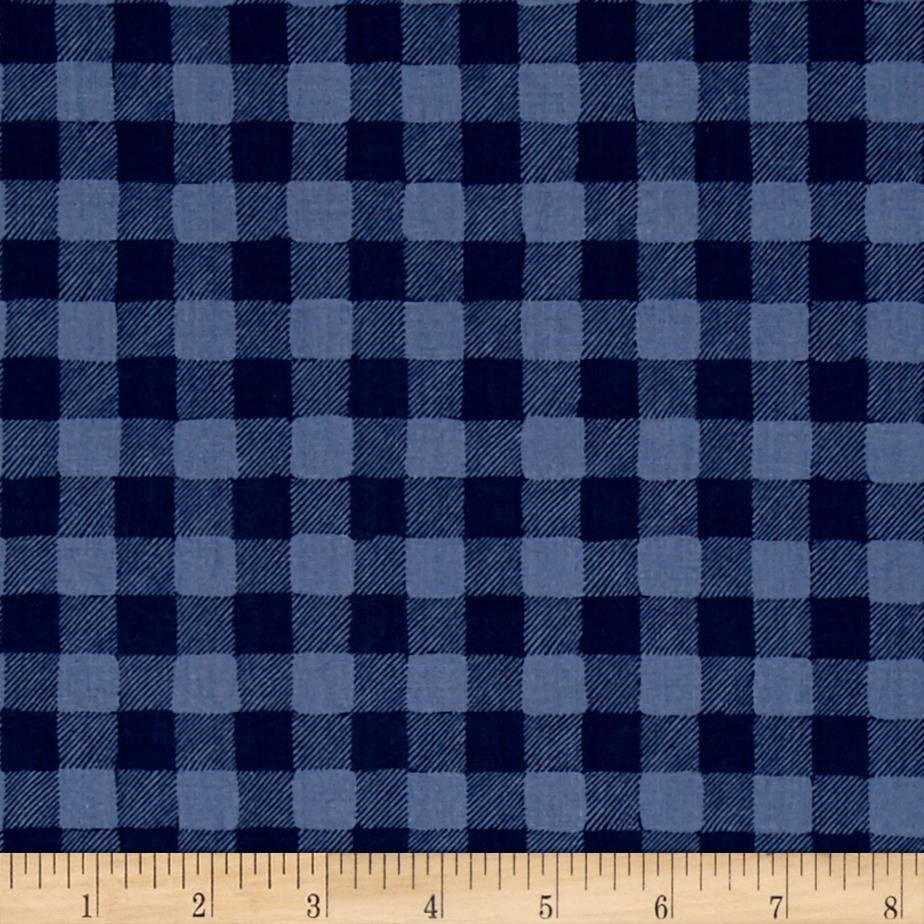 Dear Stella Trail Mix Gingham Navy
