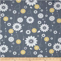 Moonflower Stylized Floral Grey