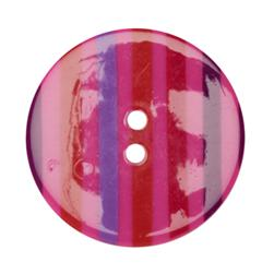 Fashion Button 1-3/8'' Confetti Stripes Red/Purple