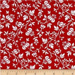 Modern Mixers III Vine Floral Red