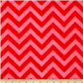 Fleece Chevron Bubble Gum/Red