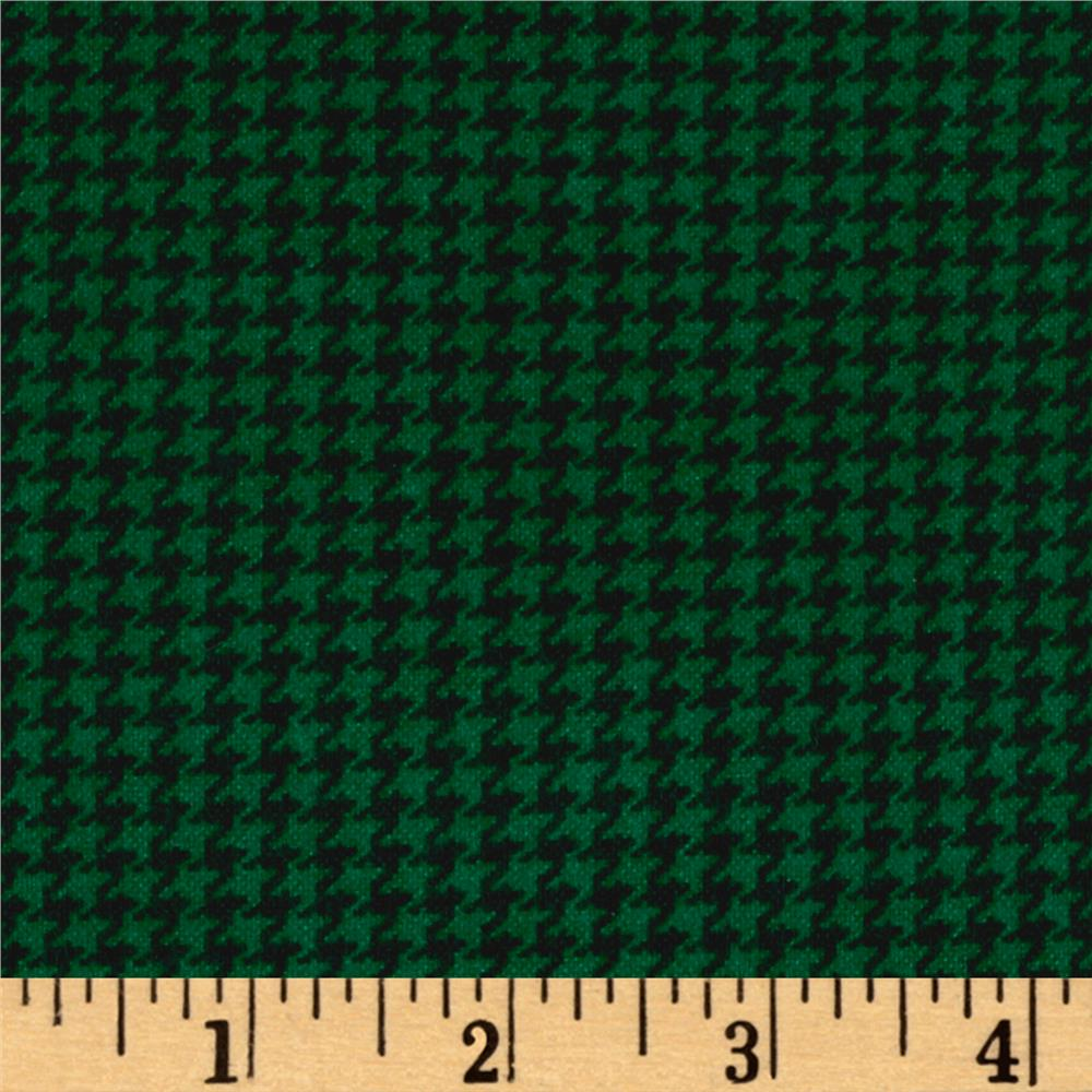 Cozies Flannel Christmas Herringbone Green
