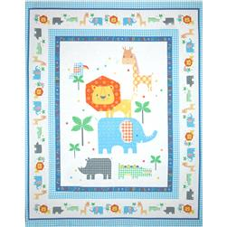 Jungle Animals Panel White