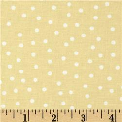 Sweetie Pie Snowmen Polka Dots Yellow