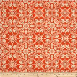 Joel Dewberry Notting Hill Historic Tile Tangerine Fabric