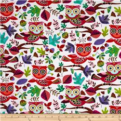 Timeless Treasures Jubilee Owls White