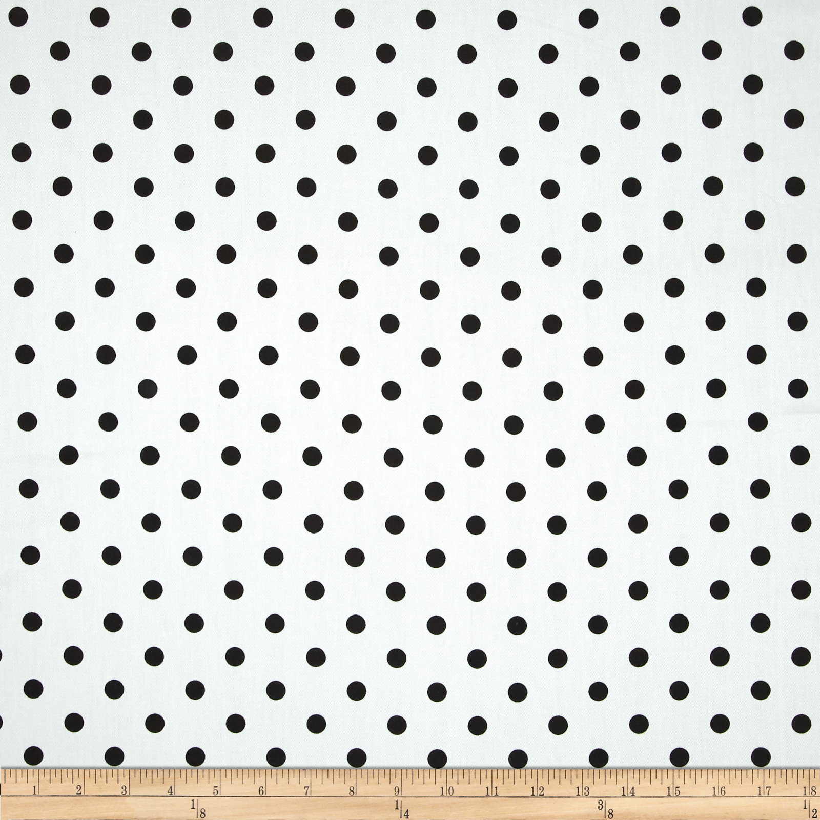 Image of Duralee Dorothy Dot Twill White Fabric