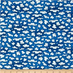 Snoopy Flying Ace Clouds Dark Blue