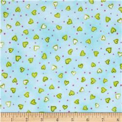 Daisy Love Flannel Small Hearts Spring
