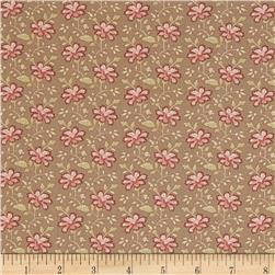 Moda Country Orchard Trailing Floral Dry Earth