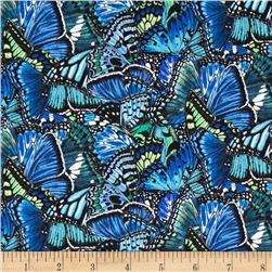 Butterfly Garden Blue Fabric