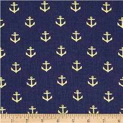 Dear Stella Seaworthy Metallics Anchors Navy/Gold