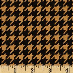 Black & Tan Houndstooth Black/Marigold