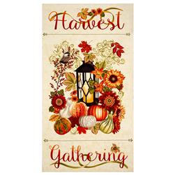 "Harvest Gathering 24"" Harvest Panel Cream"