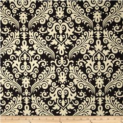 Riley Blake Home Décor Large Damask Black Fabric