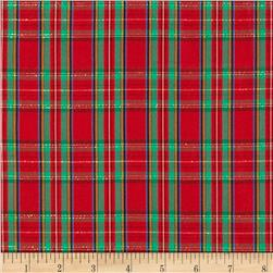 Taffeta Christmas Plaid Red/Green