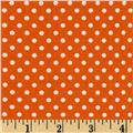 Moda Dottie Small Dots Orange