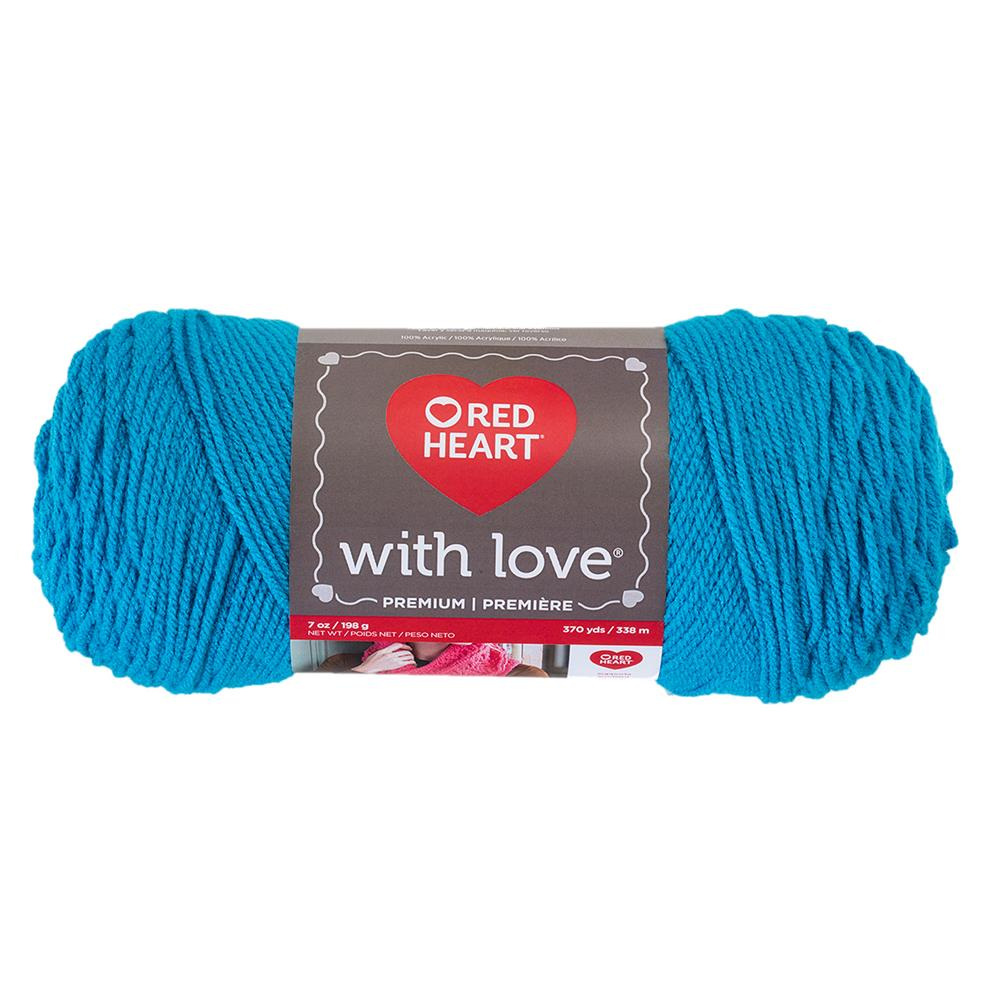 Red Heart Yarn With Love 1803 Blue Hawaii