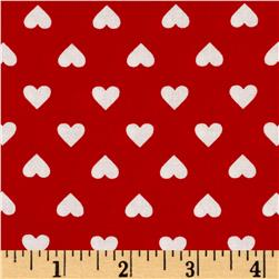 Kaurman Sevenberry Classiques Med Hearts Red