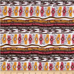 ITY Knit Aztec Lilac/Yellow/Pink/White Fabric